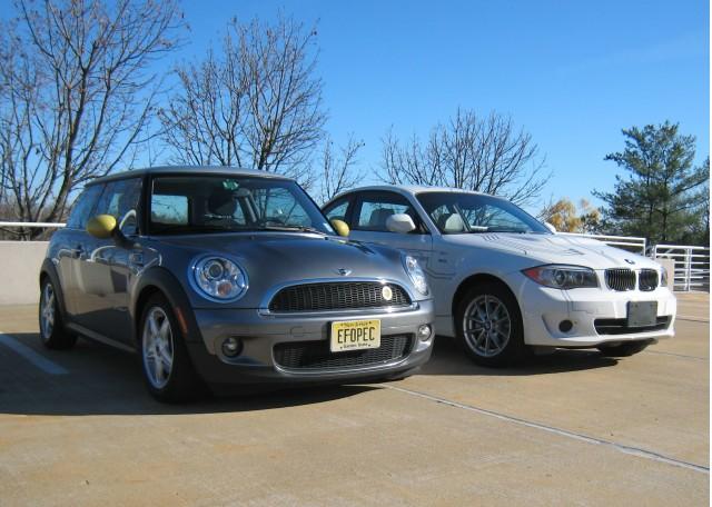 Mini E and BMW ActiveE electric cars, New Jersey, Dec 2011 (photos: Tom Moloughney)