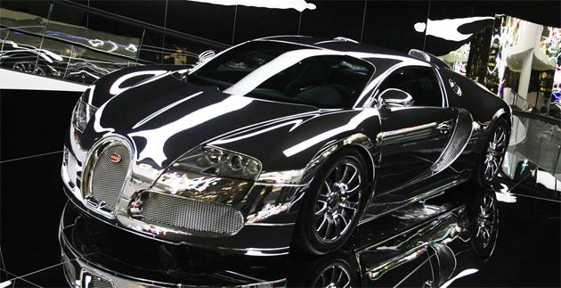 mirror finish bugatti veyron on display at vw premium. Black Bedroom Furniture Sets. Home Design Ideas