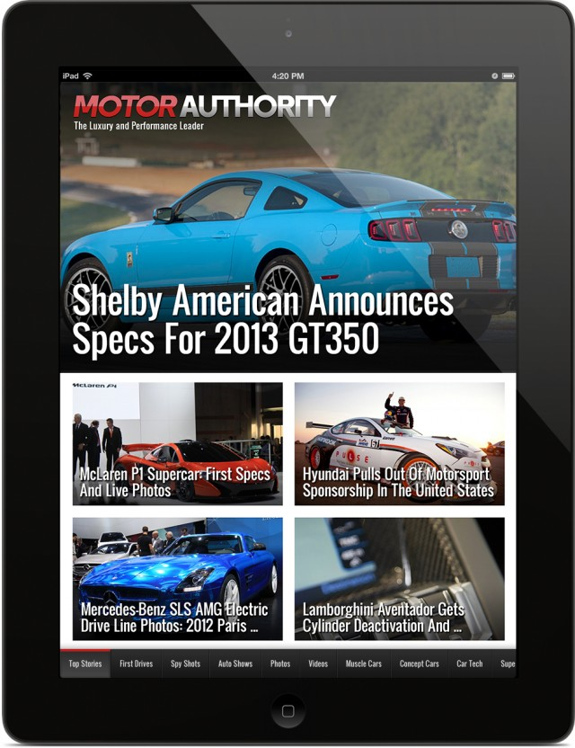 Motor Authority iPad / iPhone app