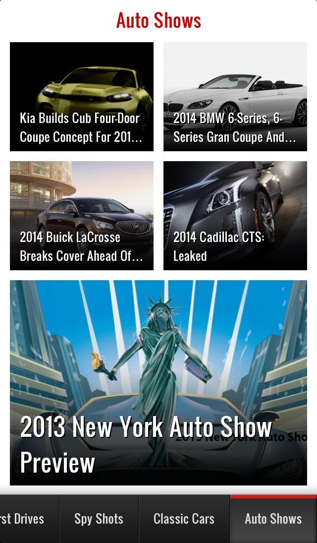 Motor Authority's iOS app covers the New York Auto Show in your pocket