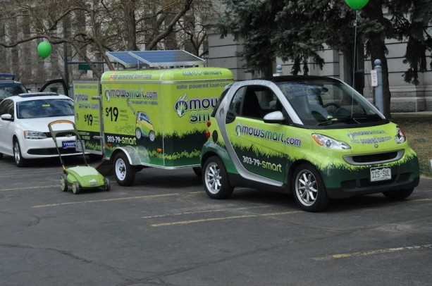 Mow Smart's Smart ForTwo Passion at Denver Green Car Parade