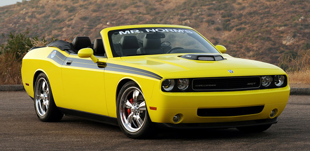Mr. Norm uses the high-performance Dodge Challenger SRT-8 model as the basis for its modifications