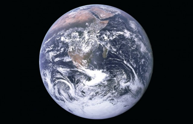 NASA's famous 'Blue marble' image of Earth (Wikimedia commons)