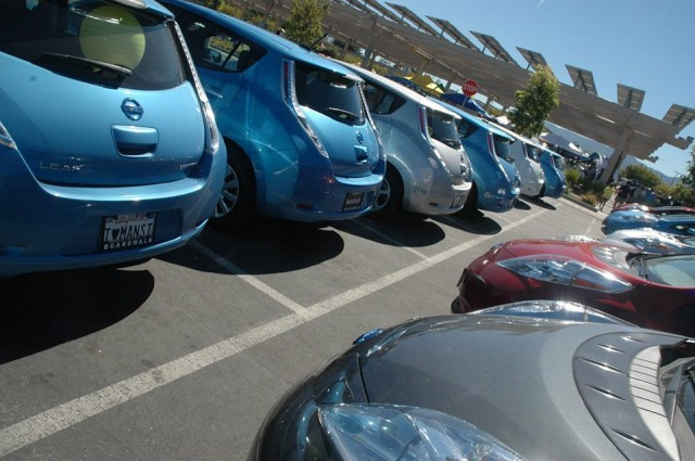 National Plug-In Day 2013: Nissan Leafs at Cupertino, CA [Photo by Corine van Deventer-Geljon]