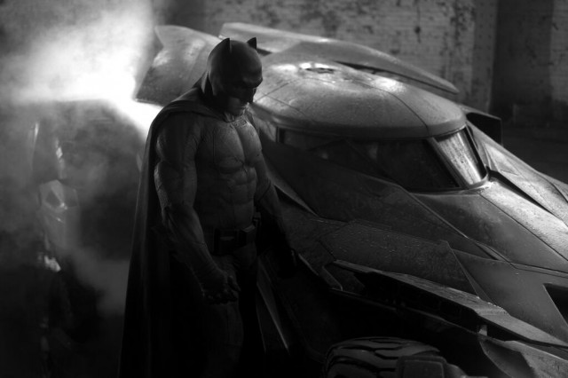 New Batmobile for 'Batman vs. Superman' movie. Image via @ZackSnyder