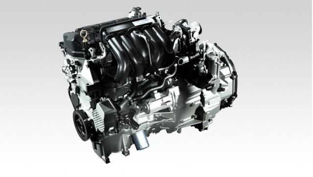 1.5-liter engine with Sport Hybrid i-DCD system used in Honda Fit Hybrid (Japan-only model)