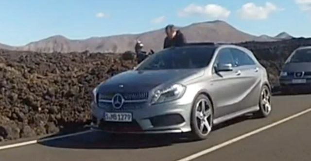 New Mercedes-Benz A Class spotted while on official photoshoot