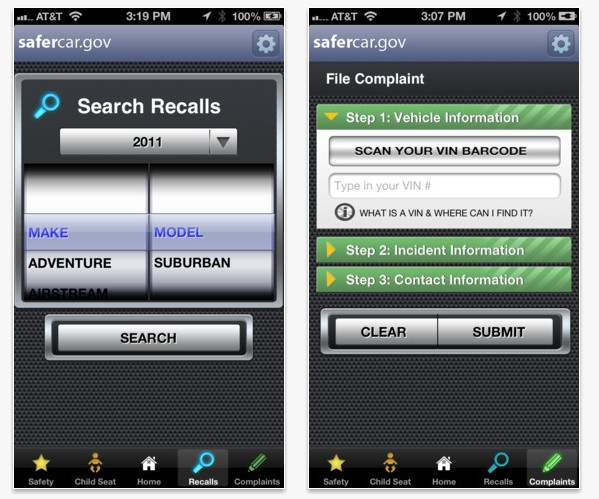 NHTSA's SaferCar App Offers Details About Safety, Recalls, And More