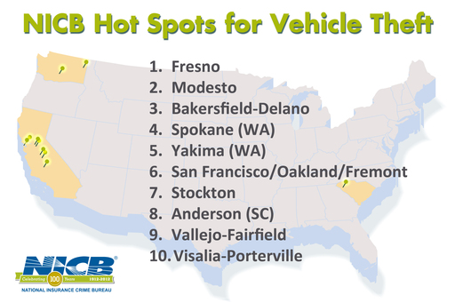 NICB - 2011 Hot Spots