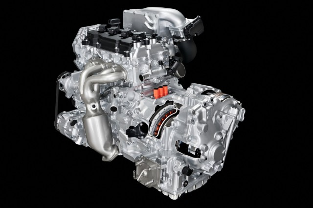 Nissan 2.5-liter supercharged four-cylinder engine with hybrid system and CVT