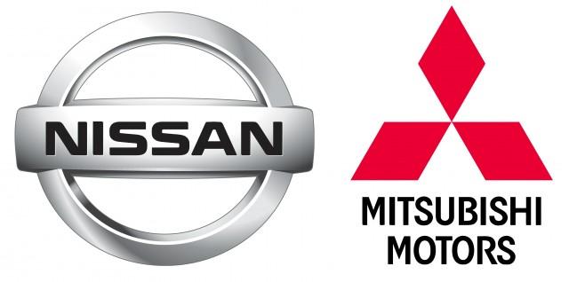 Nissan and Mitsubishi logos