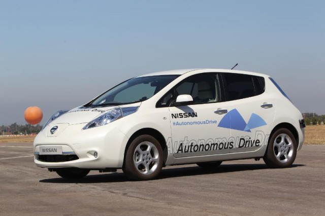 Nissan autonomous vehicle prototype