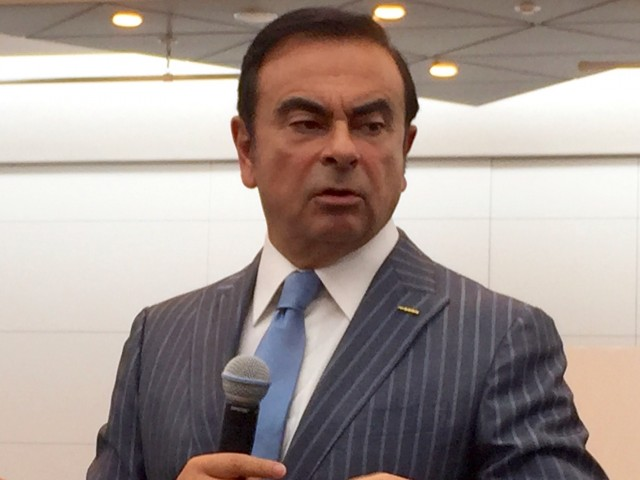 Nissan CEO Carlos Ghosn, at the 2015 Tokyo Motor Show