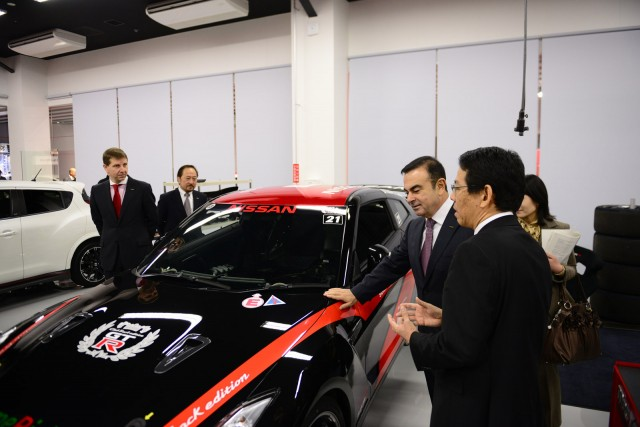 Nissan CEO Carlos Ghosn at the opening of Nismo's new headquarters in Japan