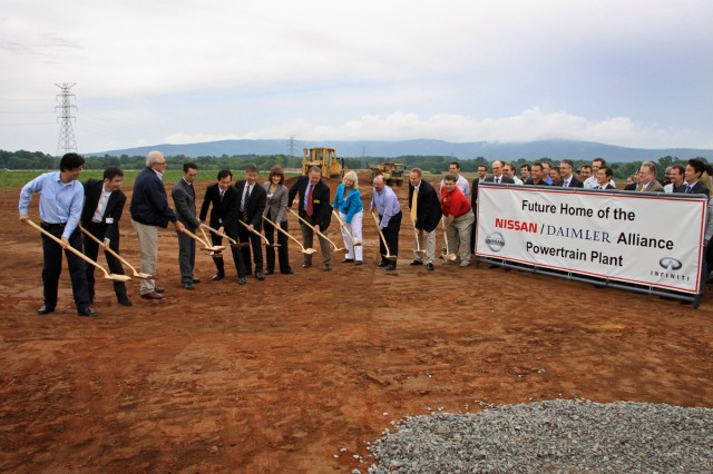 Nissan-Daimler engine plant groundbreaking in Decherd, Tennessee