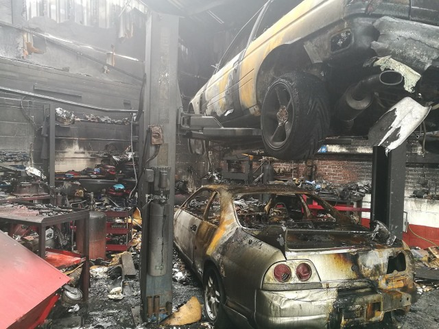 Nissan GT-Rs destroyed in fire that engulfed RB Motorsport workshop