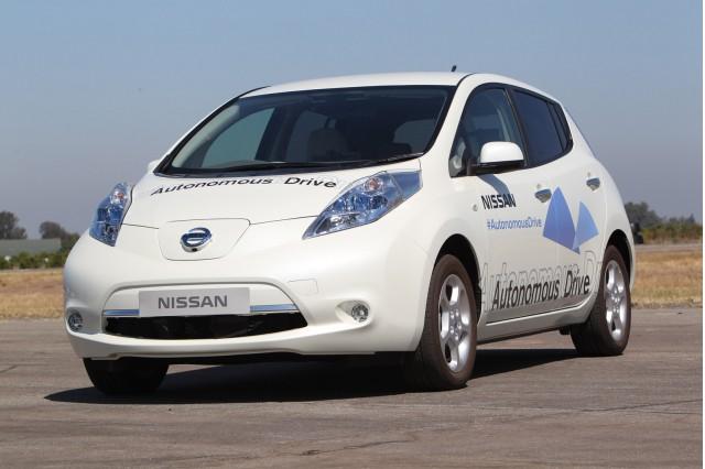 Nissan Leaf autonomous car prototype