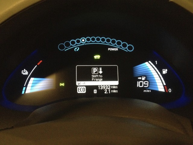 Nissan Leaf Car Not In Park Warning