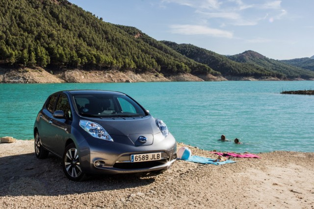 Nissan Leaf on scenic drives in Europe