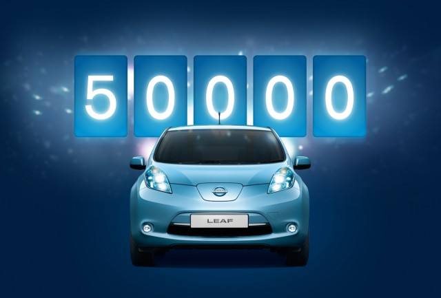 Nissan Leaf sales pass the 50,000 mark