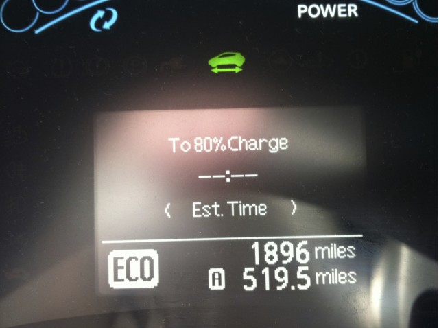 2011 Nissan Leaf does 520 Miles in 2 days