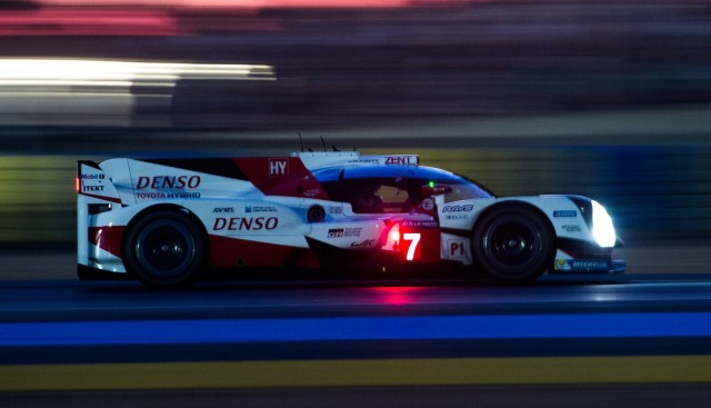 No. 7 Toyota TS050 Hybrid at the 2017 24 Hours of Le Mans