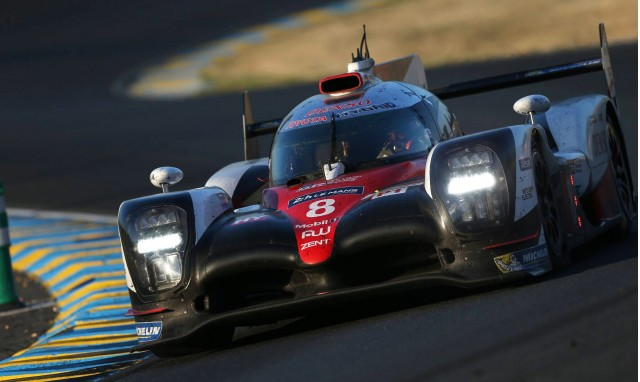 No. 8 Toyota TS050 Hybrid at the 2017 24 Hours of Le Mans