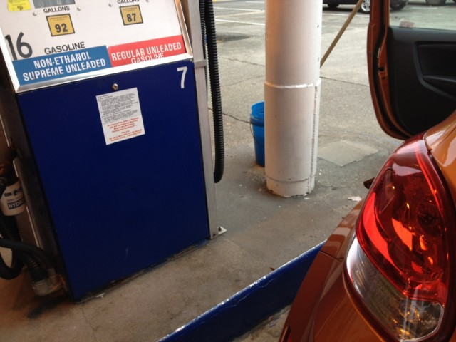 Non-ethanol gasoline pump, with Six Month Road Test Hyundai Veloster
