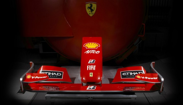 Nose cone from Ferrari F60 Formula 1 race car