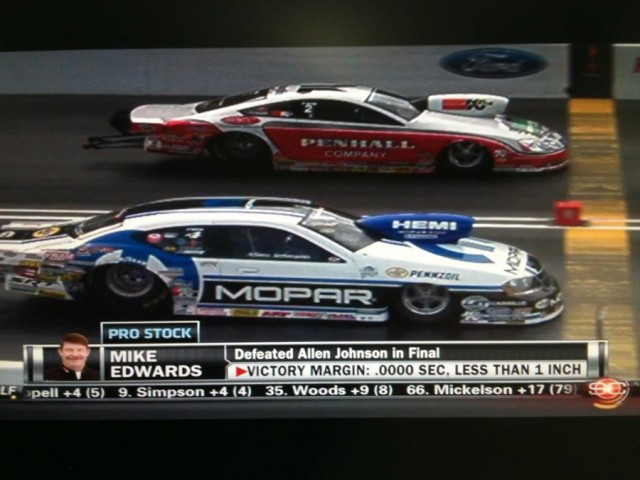 Now that's a real drag race! Courtesy J&J Racing