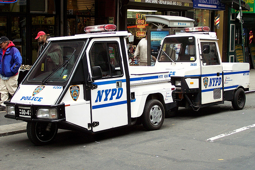 NYPD - Cushmans by Flickr user tom_hoboken
