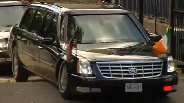 Obama Limo Gets High Centered