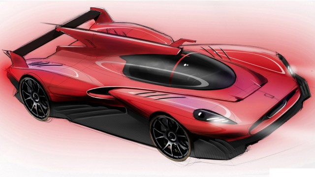 Official sketches of proposed James Glickenhaus P4/5 Competizione LMP race car