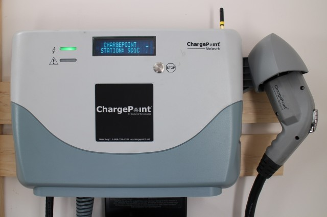 Older ChargePoint electric-car charging station