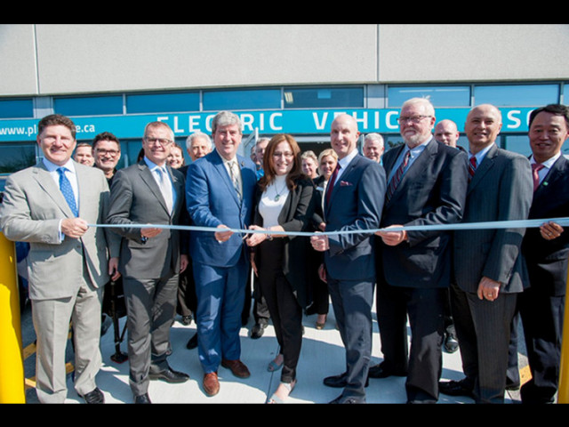 Opening of Plug'n'Drive EV Discovery Centre, Toronto, Canada, May 2016