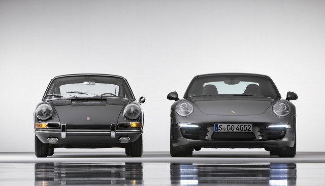 Original 1964 Porsche 911 and the Type-991 2013 Porsche 911 Carrera 4S