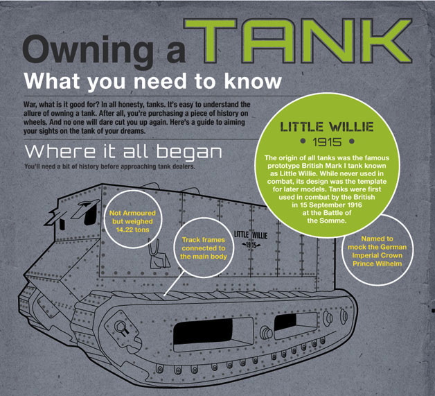 Owning a tank infographic