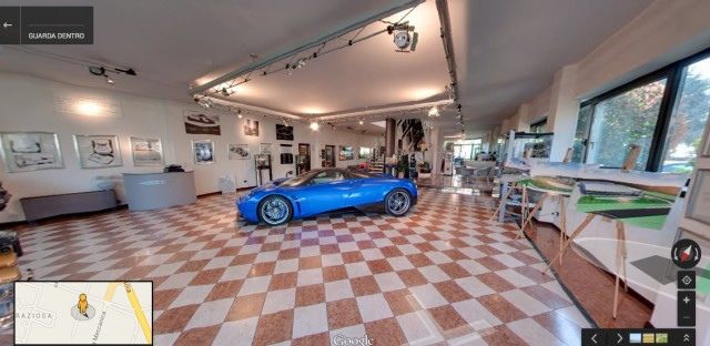 Pagani zhowroom on Google Maps.
