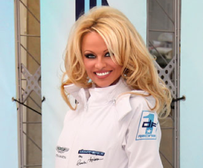 Pamela Anderson, owner of Downforce1 Racing