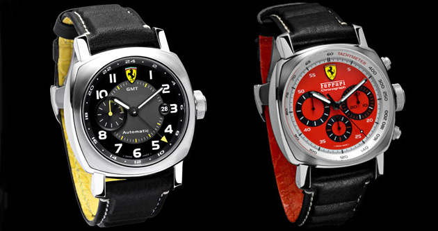 The latest addition to the Scuderia collection includes the new red and yellow dial watches