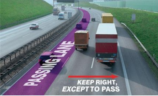 'Passing Lane' graphic from Facebook post