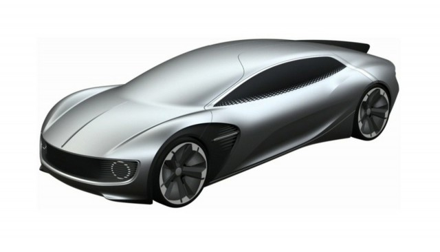 Patent drawing for Volkswagen electric car concept - Image via Motor1