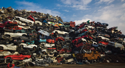 Pile of junk cars