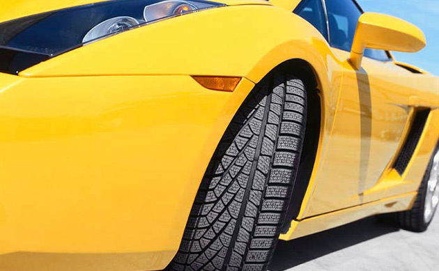 Pirelli's Cyber Tire will most likely feature on high-end models such as the Lamborghini Gallardo to begin with (standard Pirelli winter tire pictured)