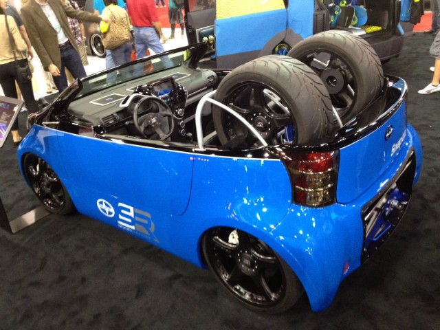 Pit Boss Cartel 2012 Scion iQ at the 2011 SEMA show