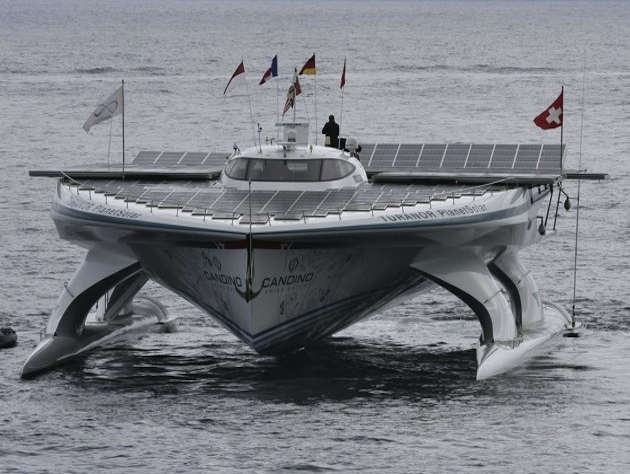 PlanetSolar around-the-world solar yacht