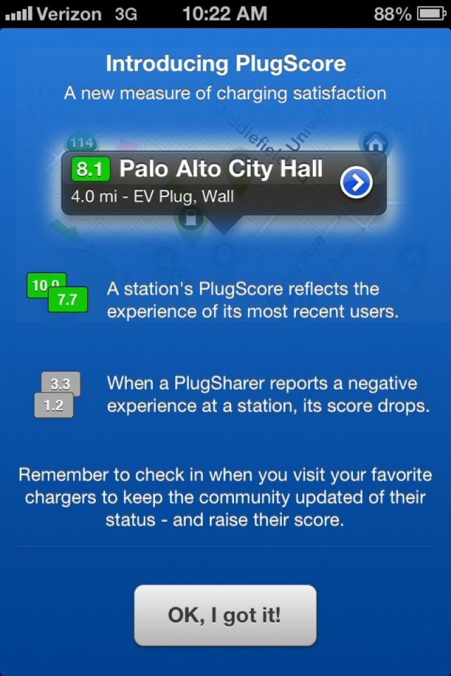 PlugScore charging station rating system from Recargo