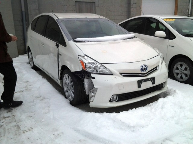 Salvaged 2014 Toyota Prius V [photo by Bill the Engineer, from EcoModder]