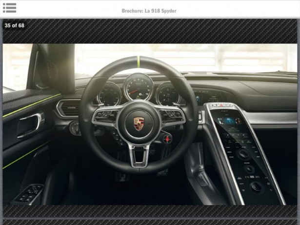 Porsche 918 Spyder leaked in brochure