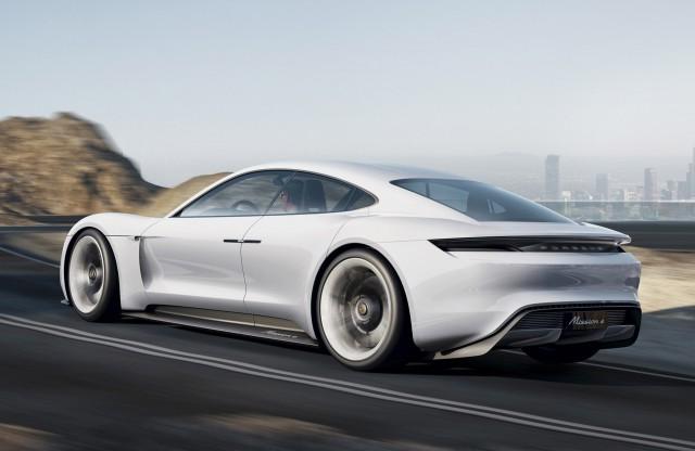 Porsche Mission E concept, 2015 Frankfurt Auto Show